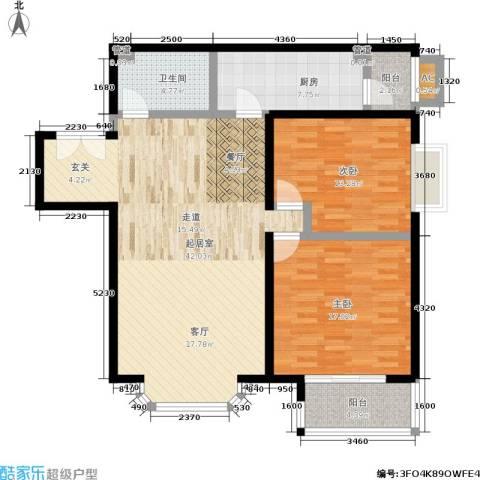 国展新座2室0厅1卫1厨105.00㎡户型图