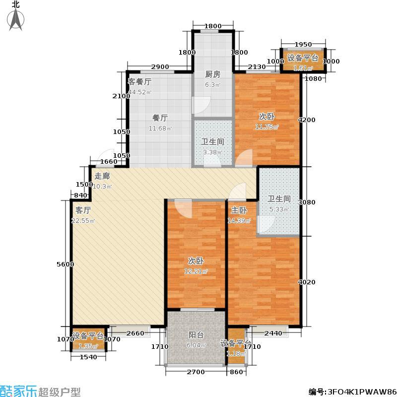 瀛嘉汇130.00㎡二期住宅房源C2户型3室2厅