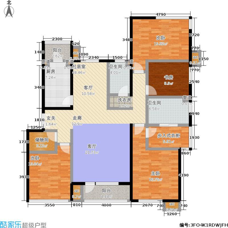 首开·常青藤169.00㎡二期珑藤12、16号楼一单元三层东N-7四室方户型4室2厅