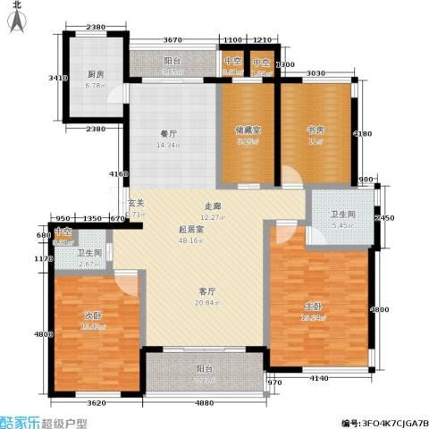 金色水岸3室0厅2卫1厨187.00㎡户型图