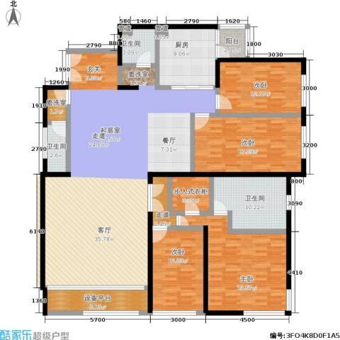 傲城融富中心4室0厅3卫1厨248.00㎡户型图