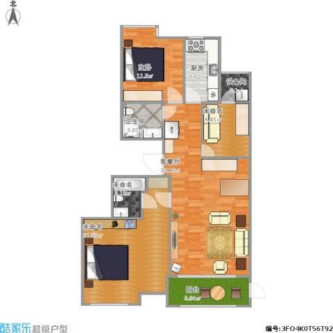 百旺茉莉园1室1厅1卫1厨120.00㎡户型图