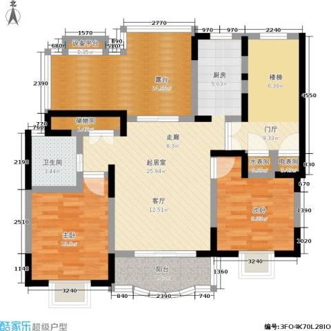 明丰世纪苑2室0厅1卫0厨98.00㎡户型图