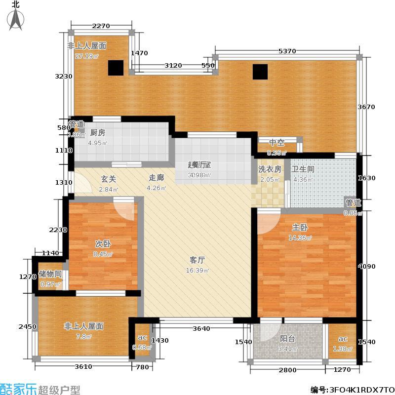 首开·常青藤85.00㎡三期5号楼E户型2室2厅