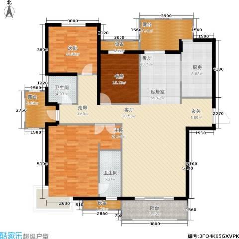 金屋·秦皇半岛3室0厅2卫1厨169.00㎡户型图