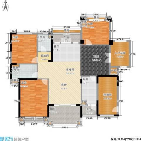 金海岸花园・聚湖3室1厅2卫1厨183.00㎡户型图