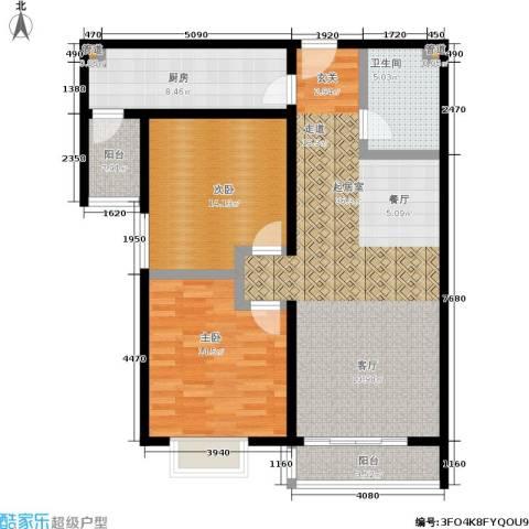 阿曼寓所2室0厅1卫1厨97.00㎡户型图