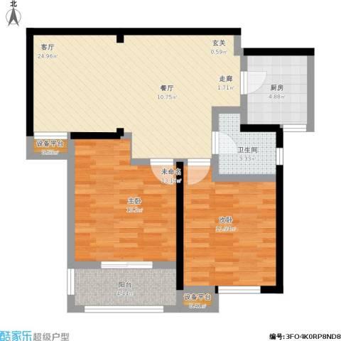 统建天成美雅1室1厅1卫1厨93.00㎡户型图