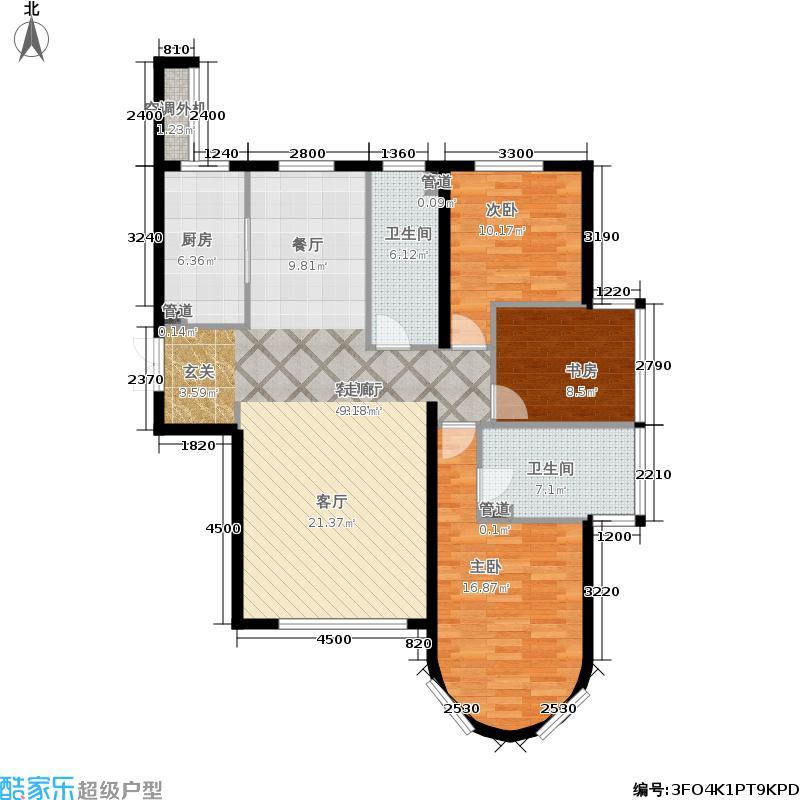 福熙大道139.65㎡A8号楼1-01/2-03户型3室2厅