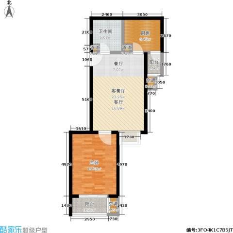 水木天成1室1厅1卫1厨68.00㎡户型图