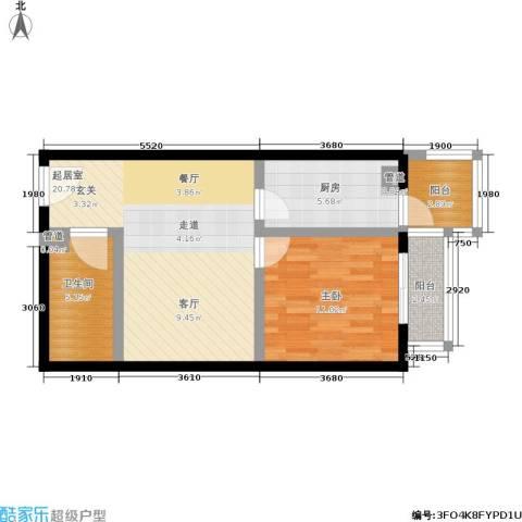 阿曼寓所1室0厅1卫1厨57.00㎡户型图