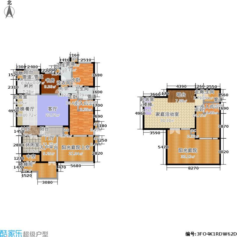 首开·常青藤206.00㎡二期珑藤12、16号楼一单元一层西S-1Y四室&#65533户型4室3厅