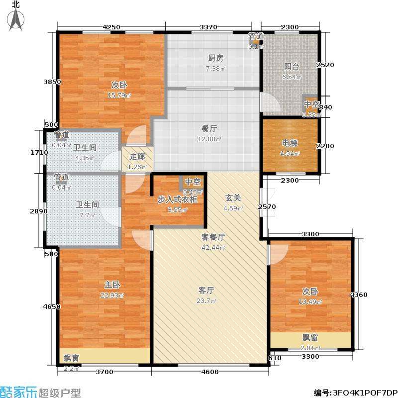 亦庄金茂悦158.00㎡一期5、9号楼B2户型3室2厅