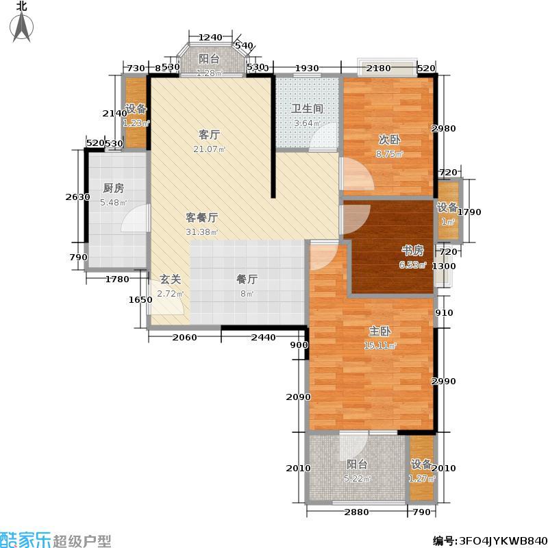招商公园187287.91㎡A1地块3#A户型