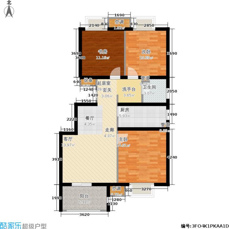 和平郡府93.00㎡C4户型3室2厅
