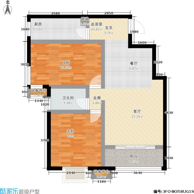 彩虹新城19号楼B92户型
