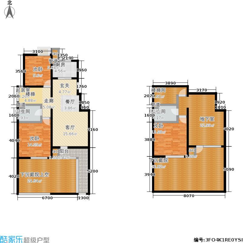 首开·常青藤155.00㎡三期4号楼JY户型2室2厅