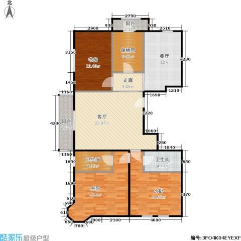 加州水郡一期3室2厅2卫0厨140.00㎡户型图