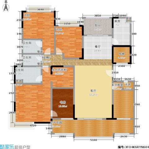 星湖尚景苑4室1厅3卫1厨193.00㎡户型图
