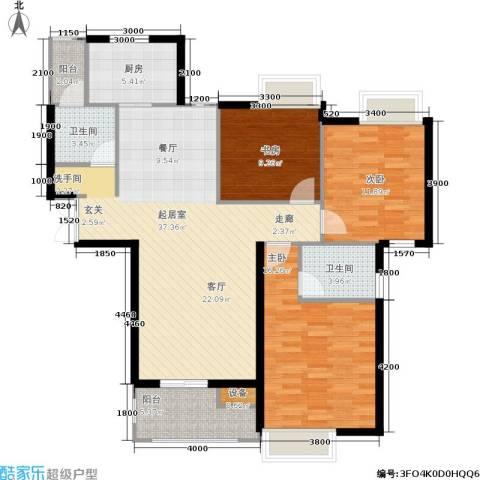 伊萨卡排屋3室0厅2卫1厨133.00㎡户型图