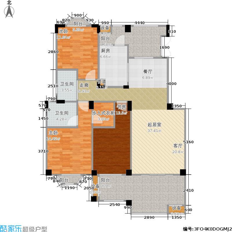 博海城128.00㎡8栋A型平层户型