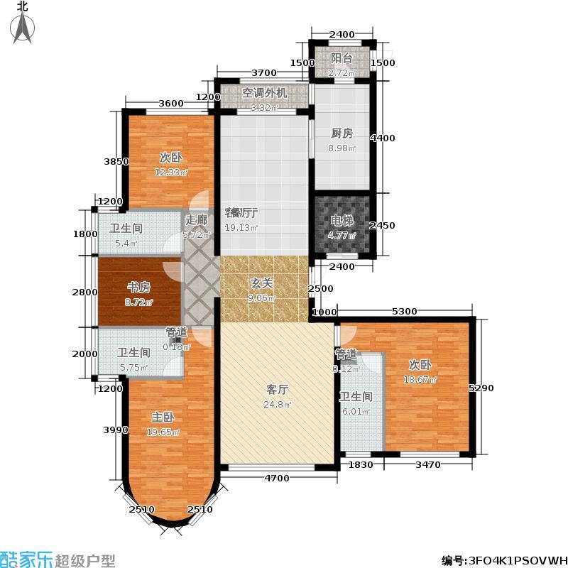 福熙大道196.42㎡A4号楼3-02户型4室2厅