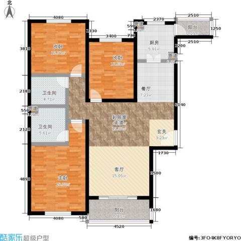 阿曼寓所3室0厅2卫1厨133.00㎡户型图