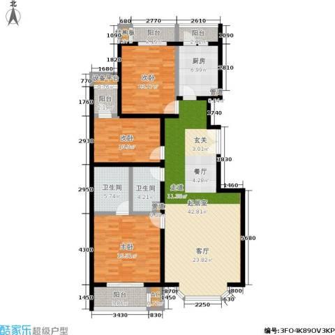 国展新座3室0厅2卫1厨130.00㎡户型图