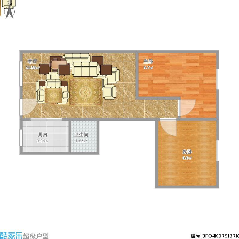50方A1户型两室两厅