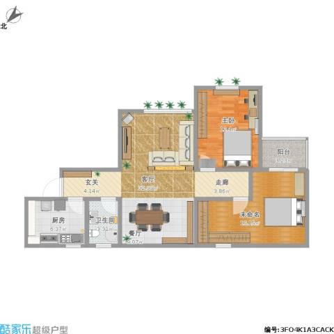 竹园小区1室1厅1卫1厨104.00㎡户型图