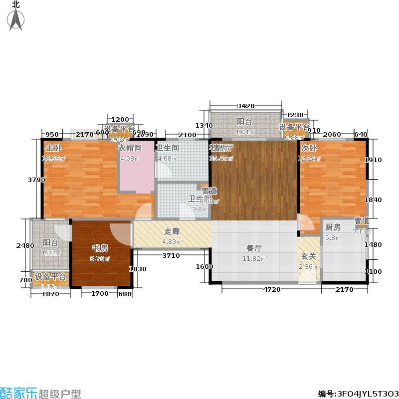 丽岛2046113.00㎡5号楼A1户型