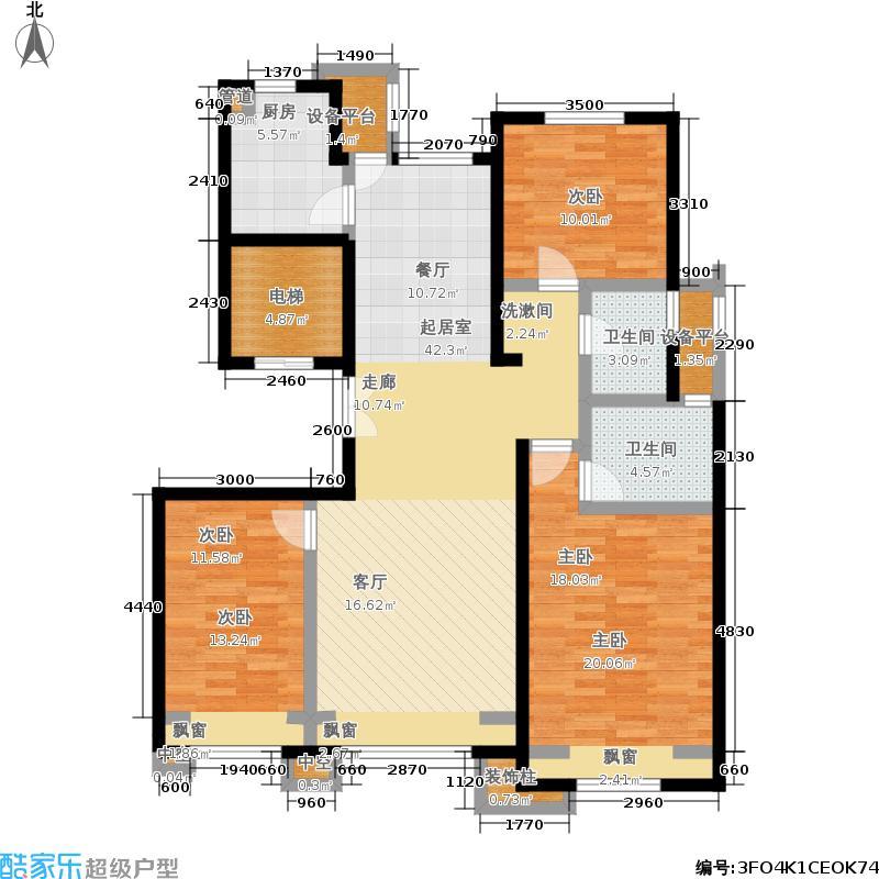 北京城建徜徉集137.00㎡10号地B-面积13700m户型