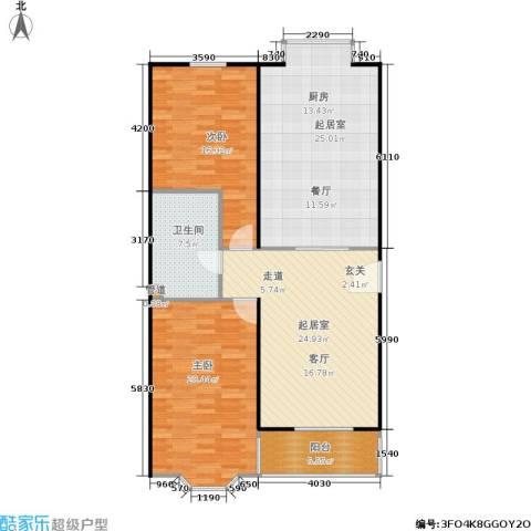 碧波园温泉家园2室0厅1卫0厨106.00㎡户型图