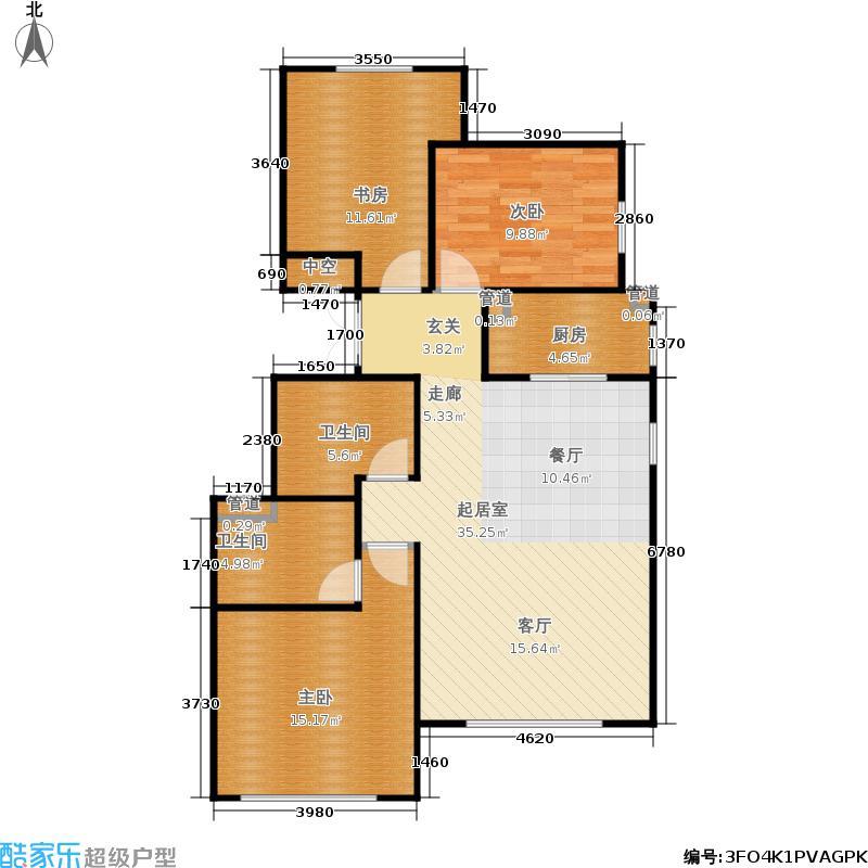 北京城建·世华龙樾105.00㎡二期Ed1户型2室2厅