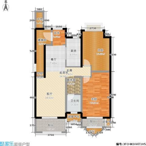加州水郡西区2室0厅1卫1厨108.00㎡户型图