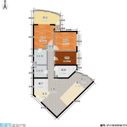 中国第一商城3室0厅2卫1厨169.00㎡户型图