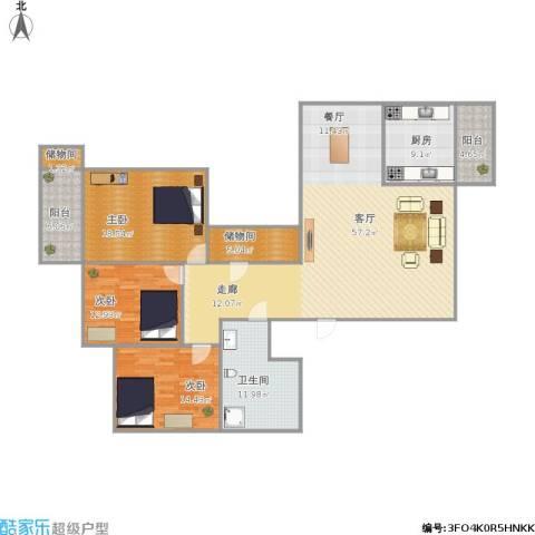 名人大第3室1厅1卫1厨188.00㎡户型图