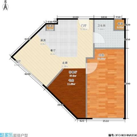 西贸国际·熙旺中心1室1厅1卫0厨71.00㎡户型图