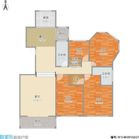 金鼎湾花园4室1厅1卫1厨166.00㎡户型图