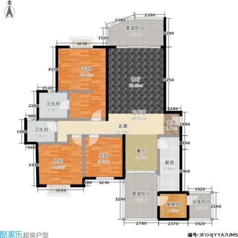 春天花园3室0厅2卫1厨127.53㎡户型图