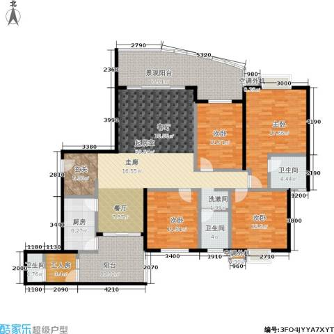 春天花园4室0厅3卫1厨151.82㎡户型图