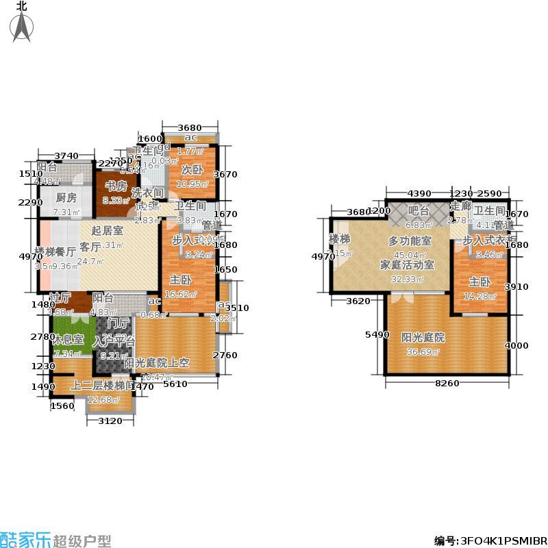 首开·常青藤206.00㎡二期珑藤15、19号楼一单元一层边S-1Y四室&#65533户型4室3厅