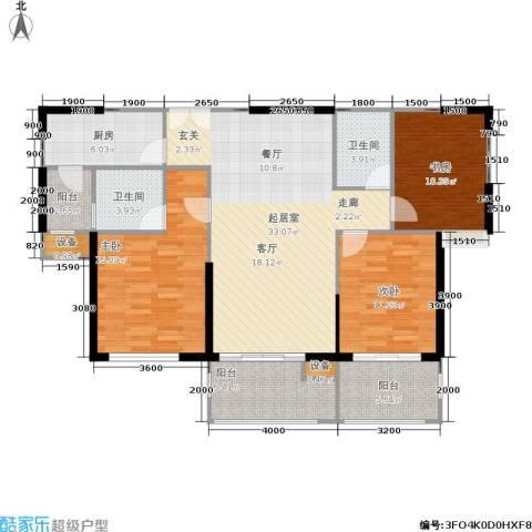 伊萨卡排屋3室0厅2卫1厨138.00㎡户型图