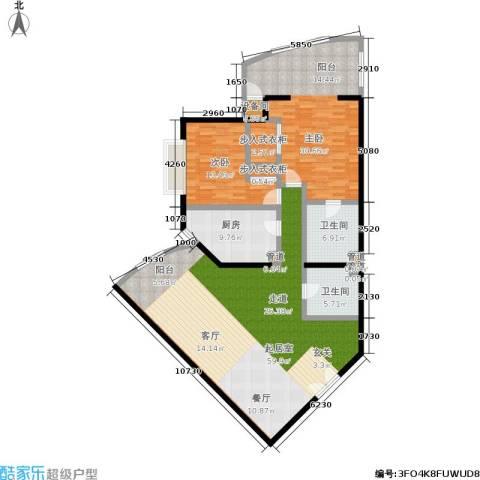 中国第一商城2室0厅2卫1厨147.00㎡户型图