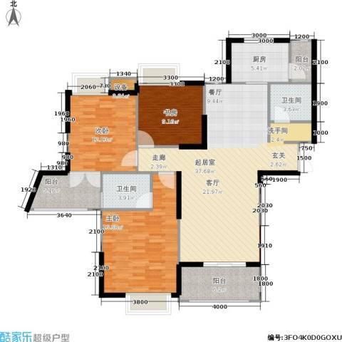伊萨卡排屋3室0厅2卫1厨143.00㎡户型图