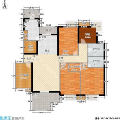 伊萨卡排屋4室0厅2卫1厨206.00㎡户型图