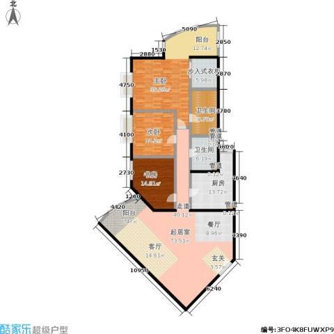 中国第一商城3室0厅2卫1厨191.00㎡户型图