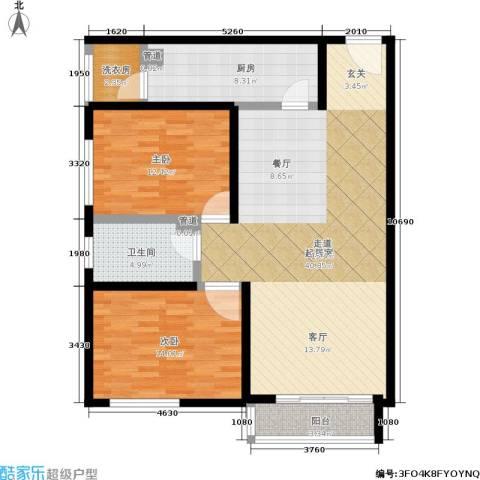 阿曼寓所2室0厅1卫1厨99.00㎡户型图