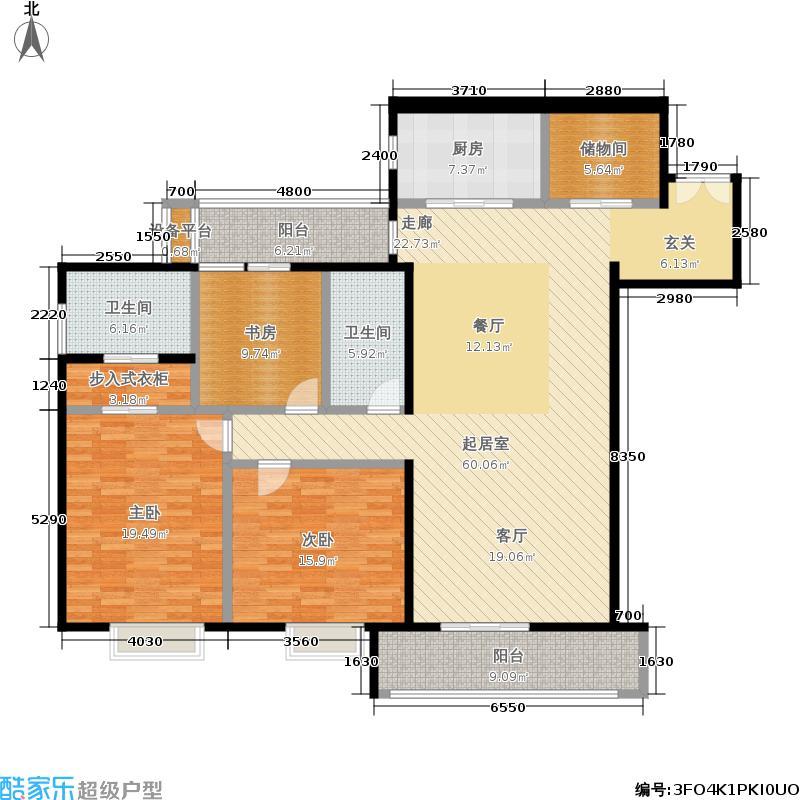 盛德紫阙207.00㎡——朱雀居户型3室2厅