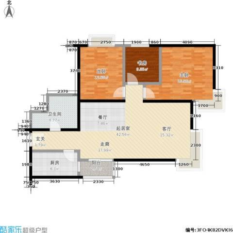 紫薇龙腾新世界3室0厅1卫1厨135.00㎡户型图